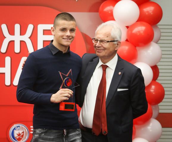 Dejan Joveljić i predsednik FK Crvena zvezda Svetozar Mijailović