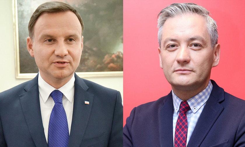 Biedroń kontra Duda w wyborach prezydenckich 2020
