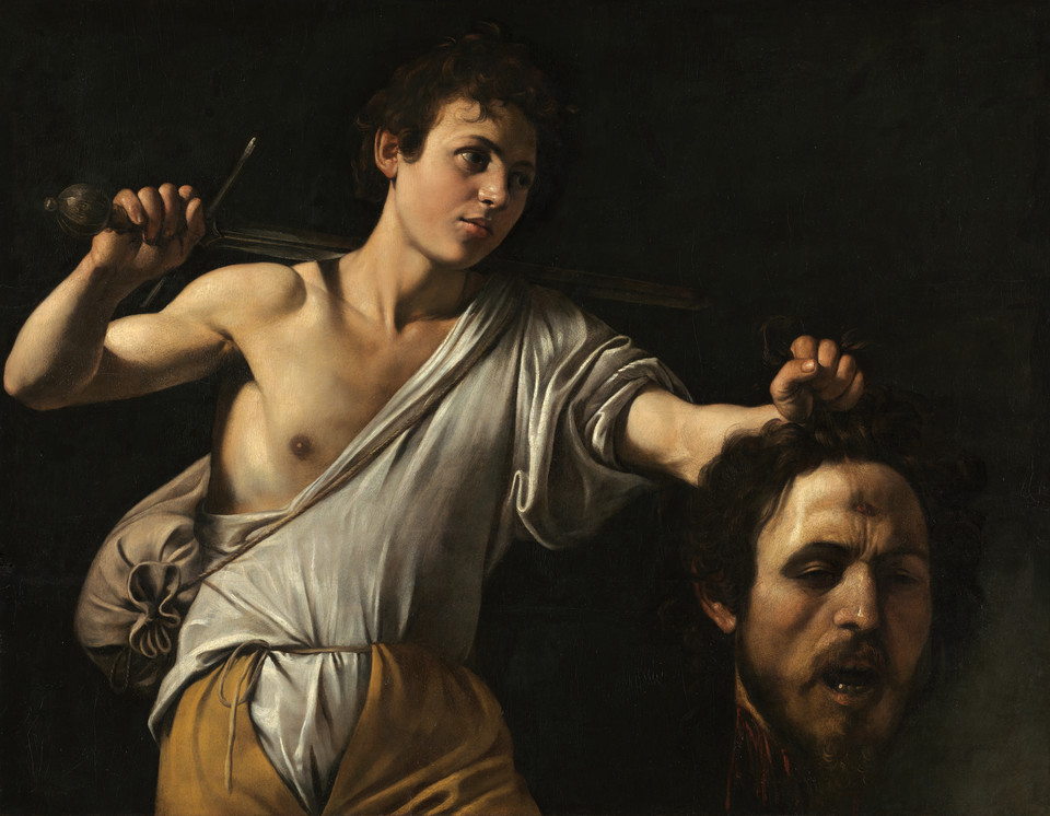 "Michelangelo Merisi da Caravaggio, ""David with the Head of Goliath"" (Rzym, ok. 1600/1601)"