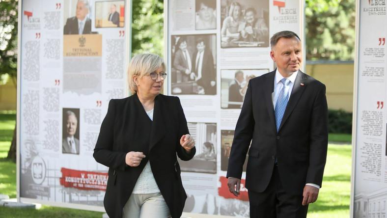 Andrzej Duda, Julia Przyłębska zwiedzają wystawę