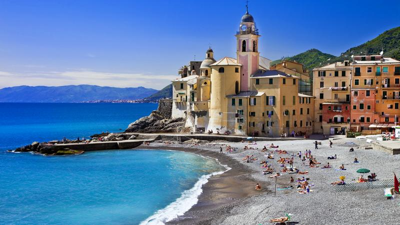 Plaża w Camogli, Włochy