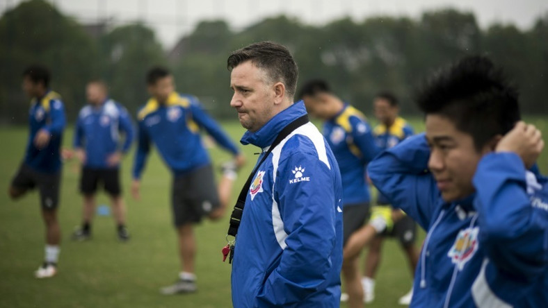 Great escape: Gary White, seen here when in charge at Shanghai Shenxin back in 2016
