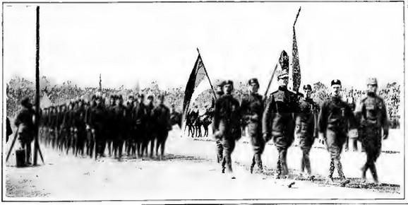 Stigla ekipa! Srbi ulaze na svečani defile Savezničkih igara 1919.