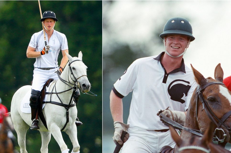 The first picture shows Prince Harry, the second pictures James Hewitt