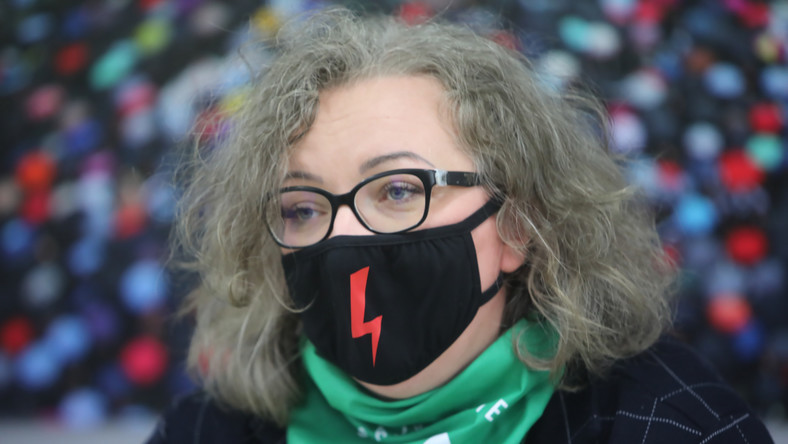 Liderka Ogólnopolskiego Strajku Kobiet Marta Lempart