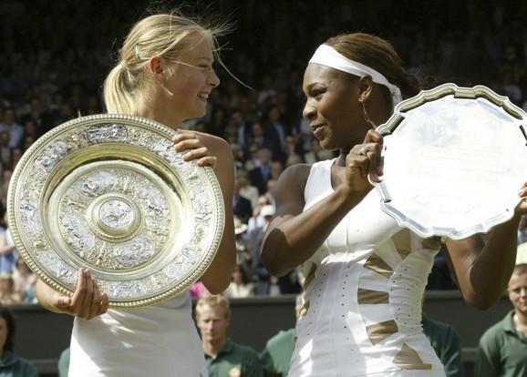 Marija Šarapova i Serena Vilijams nakon finala Vimbldona i početka velikog netrpeljstva