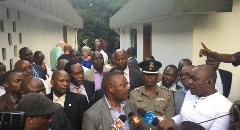 DCI boss George Kinoti addressing the pres after Cohen's body was found