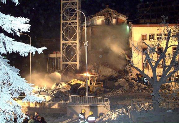 NATO bombardovanje zgrade RTS