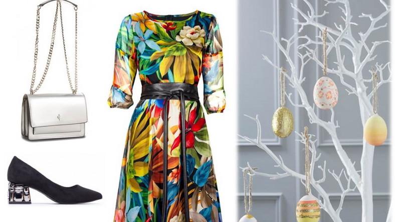 Sukienka: Midori Feminine Fashin/midori.pl, buty/torebka - Menbur/menbur.pl.