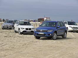 BMW X1 kontra Ford Kuga, Honda CR-V i VW Tiguan - dobry SUV z dobrym dieslem