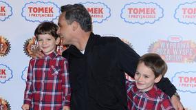 Jan Wieczorkowski z synami na premierze filmu. Podobni do znanego taty?