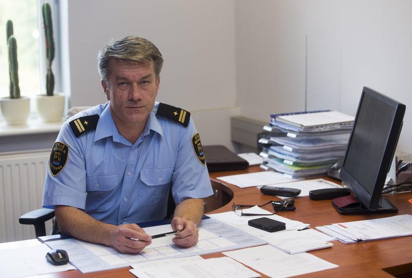 z-ca komendanta Piotr Piętak, SM Katowice