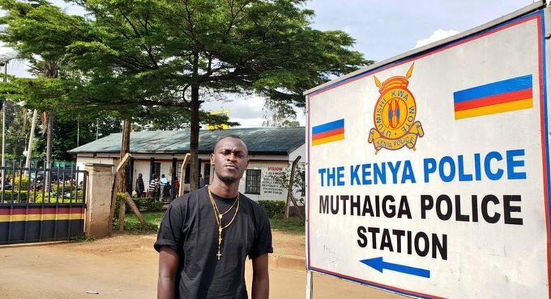 Wajinga Nyinyi hit maker King Kaka records statement with police after warning from DCI over false summons