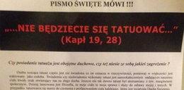 Gdańskie duszpasterstwo ostrzega: tatuaż to pieczęć diabła