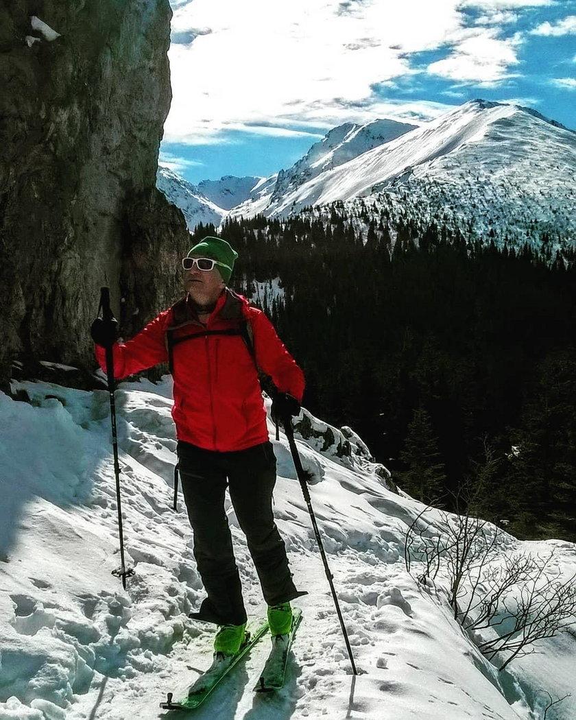 Marek Kuchciński na nartach