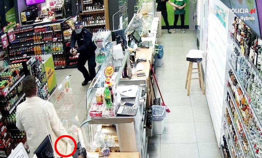 Napadł z nożem na stację, postrzelił go policjant.