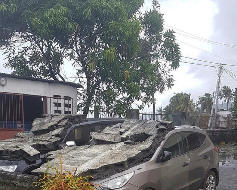 Cyclone damaged cars in Moroni, Comoros, Thursday, April 25, 2019. (Toronto Star)