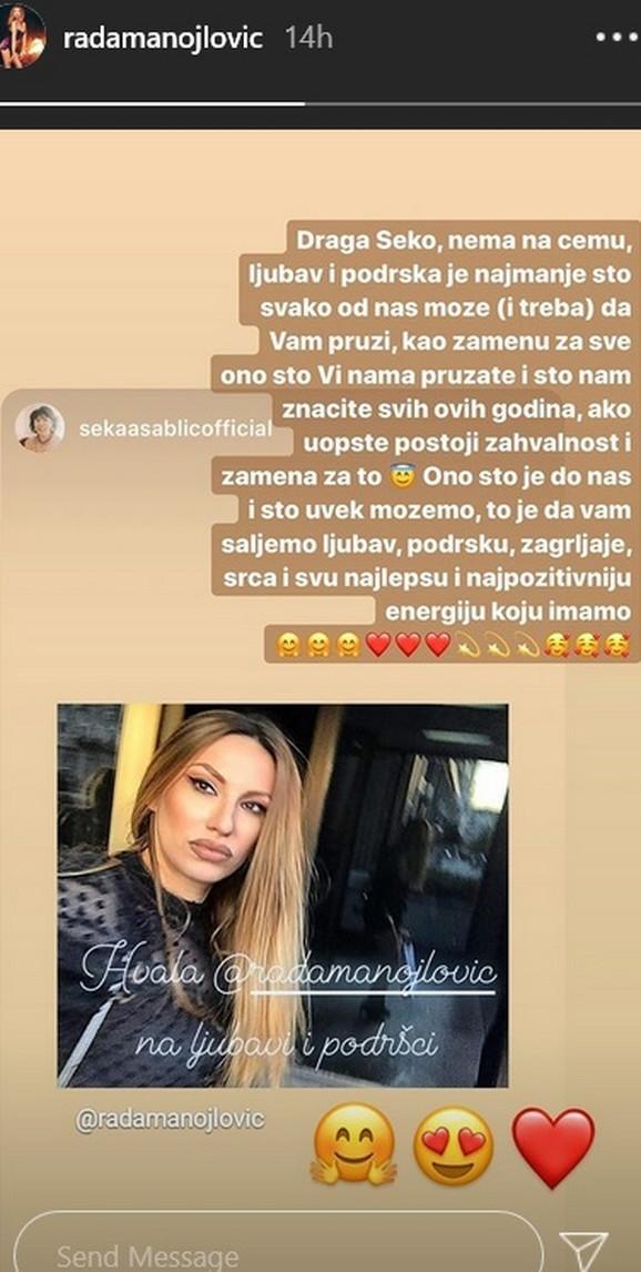 Rada Manojlović, Seka Sablić
