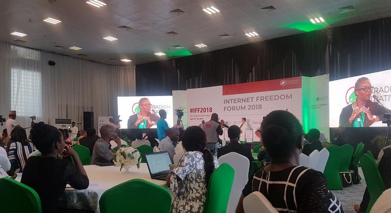 Opening panel session of Digital Rights conference 2018 (Twitter/ugoekwueme)