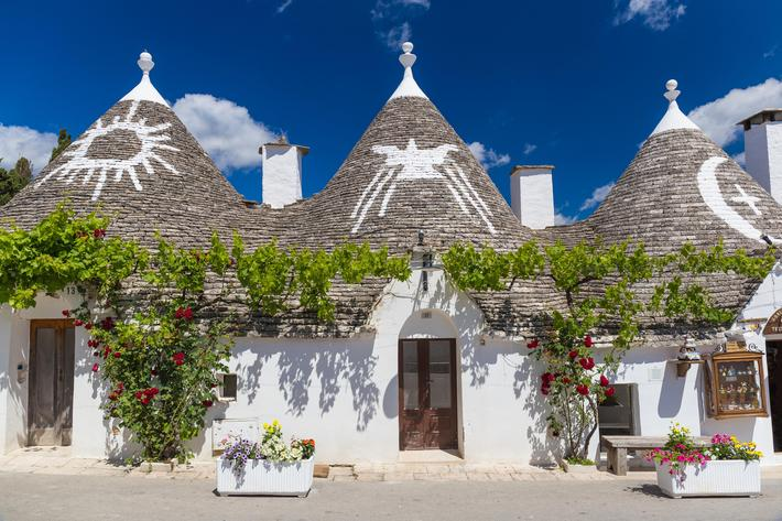 Beautiful town of Alberobello with trulli houses, main turistic district, Apulia region, Southern It
