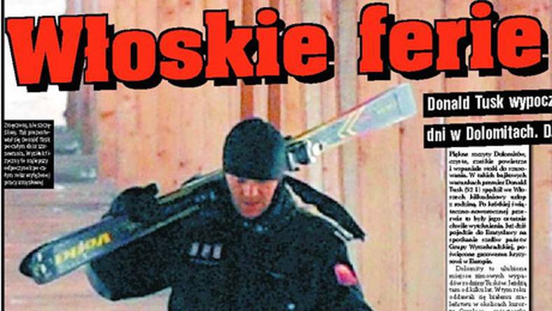 Czy Tusk na nartach myśli o Polsce?