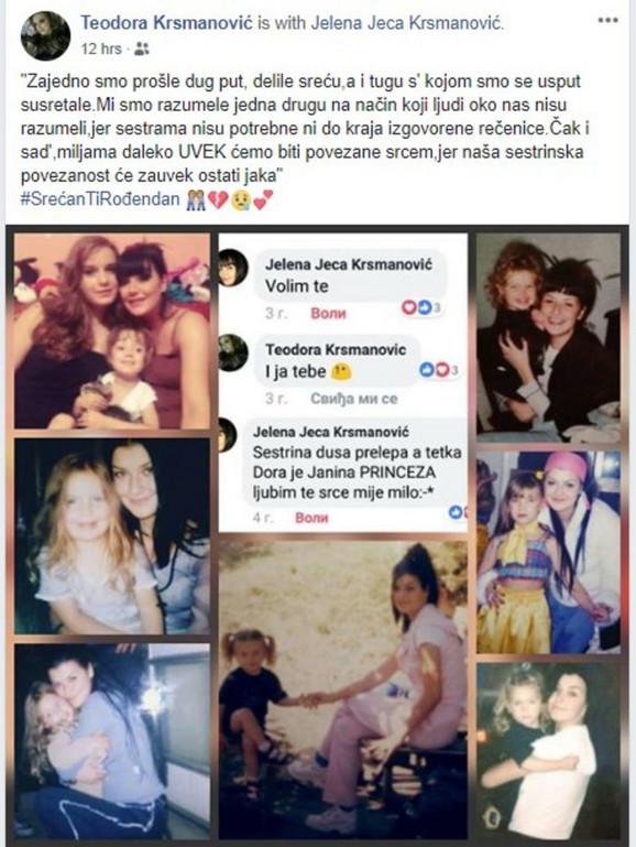 Teodora Krsmanović obajvila je tužnu poruku posvećenu Jeleni