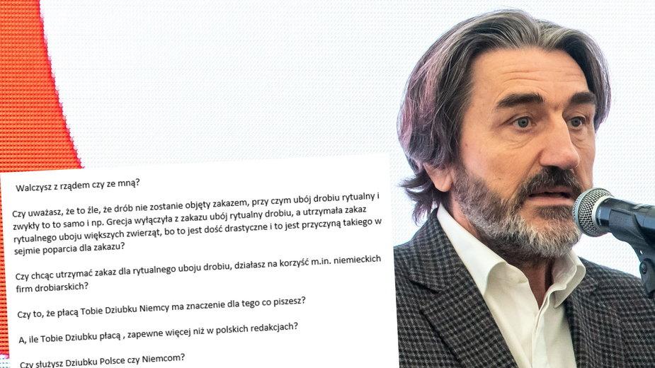 Prezes Cedrobu Andrzej Goździkowski i jego email do dziennikarza Onetu