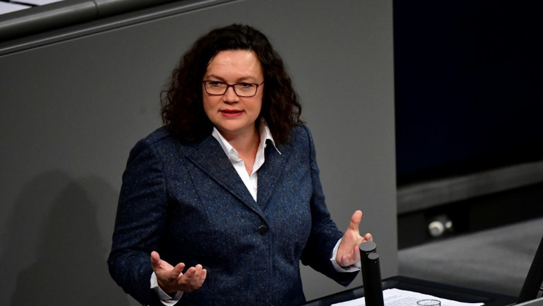 With the SPD polling below 20 percent, party chief Andrea Nahles has faced pressure from within party ranks