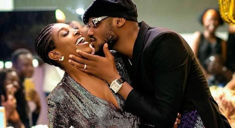 Music icon 2Face Idibia and his wife Annie [Instagram/Official2baba]