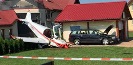 Nietypowy wypadek w Krośnie. Samolot runął na posesję