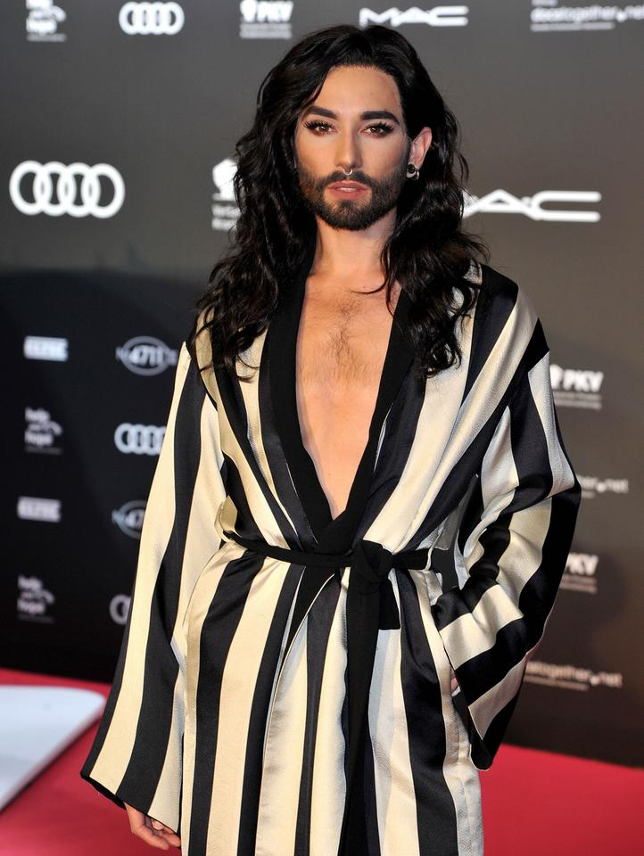 Conchita Wurst na gali AIDS Foundation