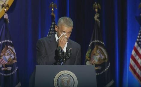 Obama plače tokom oproštajnog govora