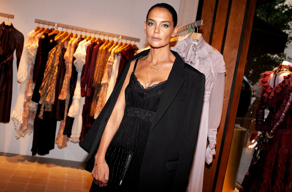 Katie Holmes na New York Fashion Week