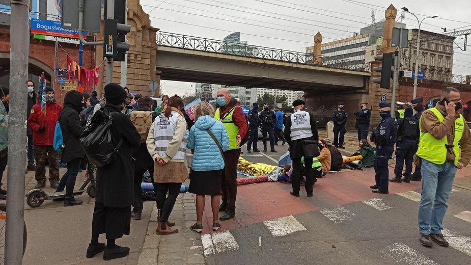 Protest aktywistów we Wrocławiu