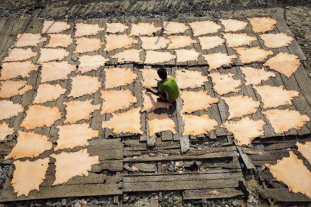 10-letni pracownik garbarni w Indiach