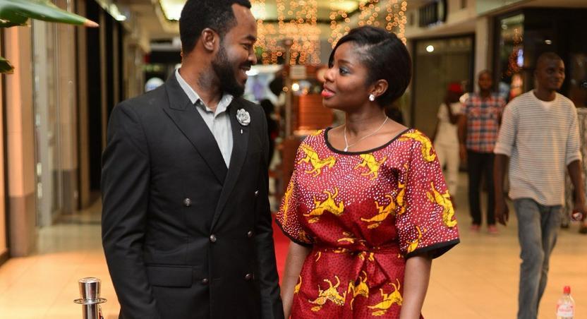 OC Ukeje and Wife at AFRIFF 2015