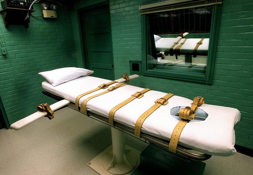 Cela śmierci w więzieniu w Huntsville w Teksasie