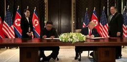 Historyczny szczyt przywódców USA i Korei Północnej. Donald Trump i Kim Dzong Un podpisali wspólny dokument