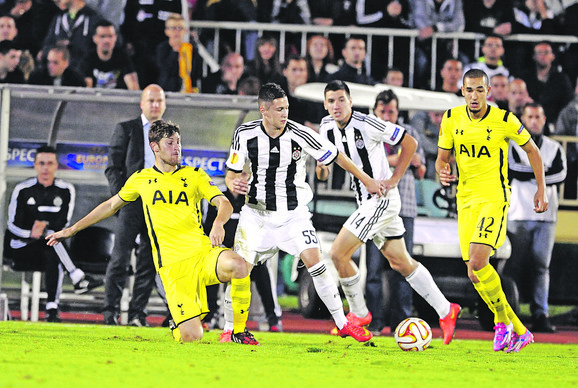 Detalj sa utakmice Partizan - Totenhem