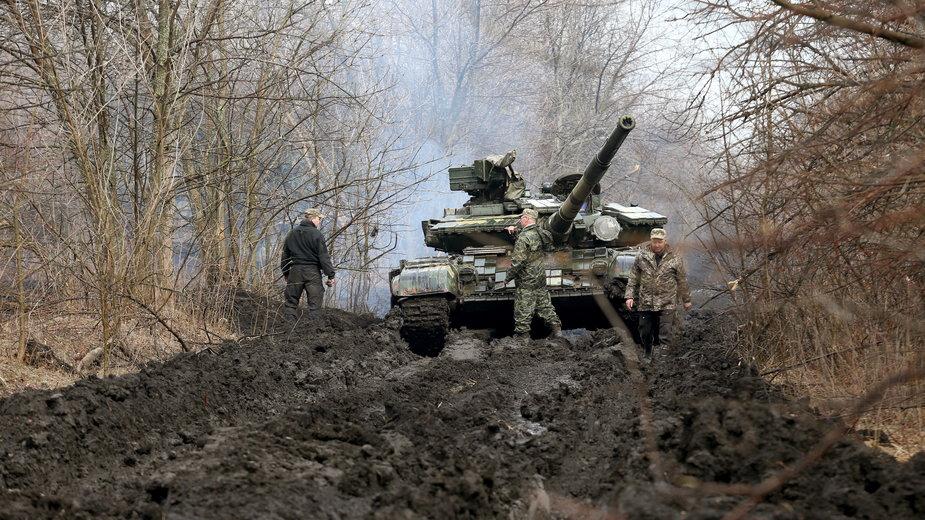 Ukraińscy żołnierze w pobliżu linii frontu (obwód ługański)