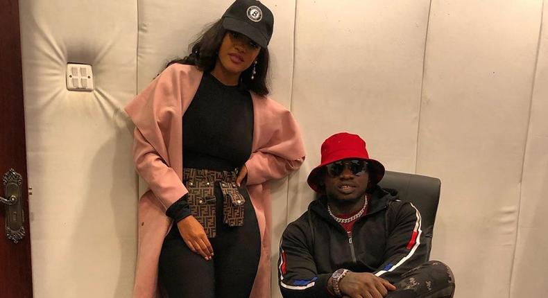 Tanasha Donna with Rapper Khaligraph Jones
