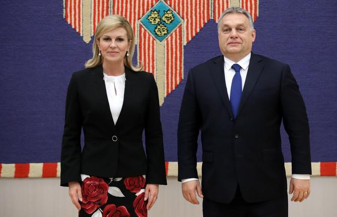 Kolinda i premijer Mađarske Viktor Orban u Zagrebu prošle godine