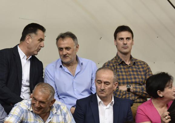 Nihat Biševac, Zoran Gajić i Ivan Knežević na trećem meču finalne serije Superlige u muškoj konkurenciji