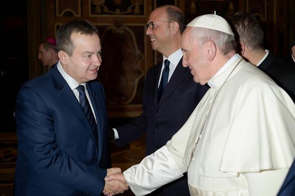Ivica Dačić i papa Franja