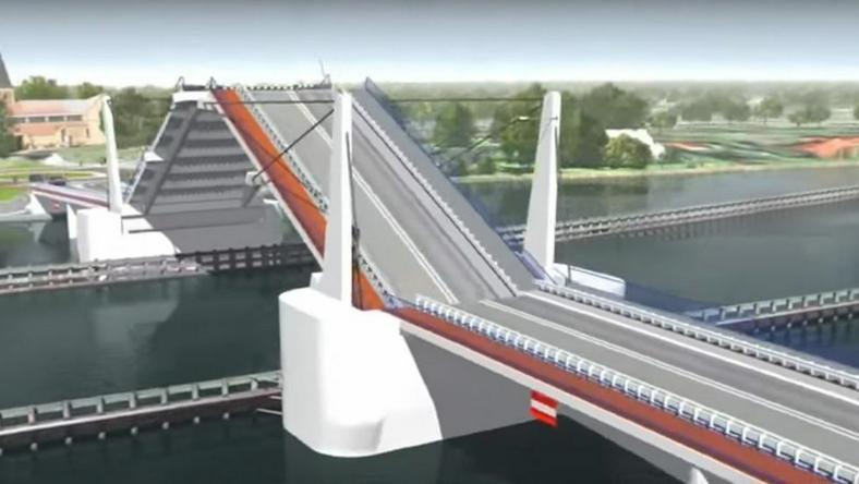 Wizualizacja mostu na Wyspę Sobieszowską