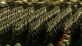 Nocne przygotowania do defilady z okazji Dnia Zwycięstwa w Moskwie