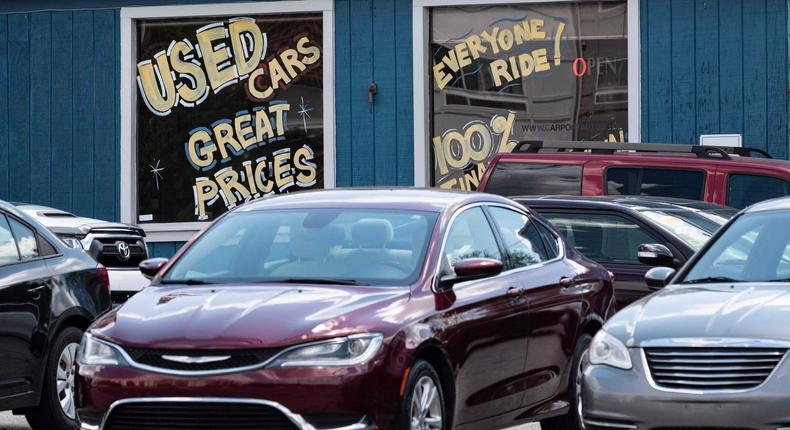 Used car and truck dealers have bought models for more than their original sticker price.
