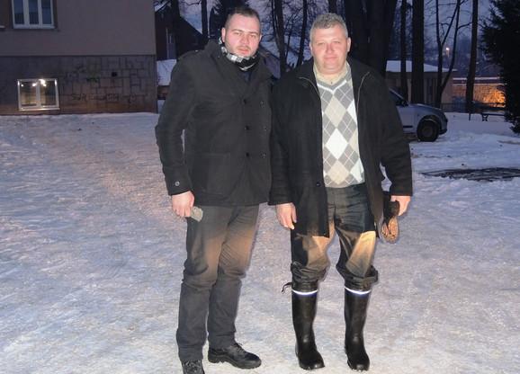 Potpredsednik opštine Ivanjica Momčilo Mitrović i državni sekretar Željko Radošević