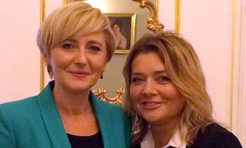 Agata Duda i Małgorzata Królikowska-Ostrowska