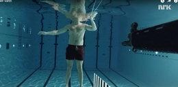 Strzelił do siebie pod wodą. Oto, co się stało